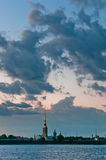 Peter and Paul fortress with cloudscape Royalty Free Stock Photo