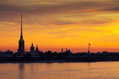 Peter and Paul Fortress in dawn Stock Images