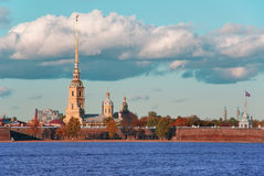 Peter and Paul Fortress in the early morning. Stock Photography