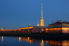 The Peter and Paul fortress. Royalty Free Stock Image