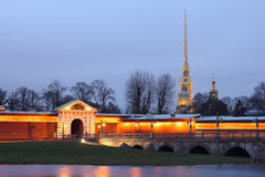 The Peter and Paul fortress. Stock Photography