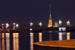 The Peter and Paul fortress. Royalty Free Stock Photos