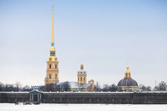 Peter and Paul fortress, landmark of St-Petersburg Royalty Free Stock Images