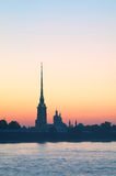 Peter and Paul Fortress at morning Stock Photography