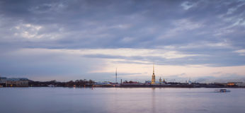 Peter and Paul fortress from the Neva Stock Image