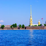 Peter and Paul Fortress and Neva River Royalty Free Stock Images