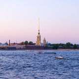 Peter and Paul Fortress and Neva River, Saint Petersburg Royalty Free Stock Images