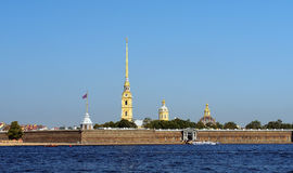 Peter and Paul fortress and Neva River, Saint Petersburg Royalty Free Stock Photography
