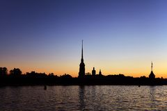 Peter and Paul fortress and the Neva river at sunrise, Saint-Pet Royalty Free Stock Photo