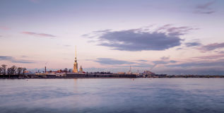 Peter and Paul fortress from the Neva Royalty Free Stock Photography