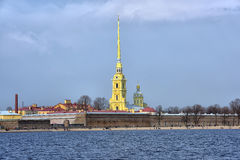Peter and Paul Fortress and Neva Stock Photo