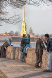 Peter and Paul Fortress and Neva Stock Photos