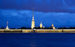 Peter and Paul Fortress at night. Stock Image
