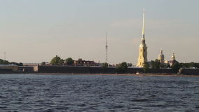 Peter and Paul Fortress is the original citadel of the city stock footage