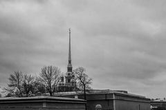Peter and Paul Fortress, the original citadel of St. Petersburg, Russia, founded by Peter the Great in 1703. Peter and Paul Fortress, the original citadel  of St Stock Images