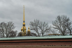 Peter and Paul Fortress, the original citadel of St. Petersburg, Russia, founded by Peter the Great in 1703. Peter and Paul Fortress, the original citadel of St Royalty Free Stock Photo