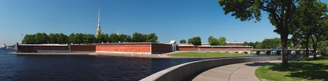 Peter and Paul Fortress panorama Stock Photography