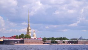 The Peter and Paul Fortress. Is the original citadel of St. Petersburg, Russia stock video