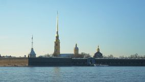 Peter and Paul Fortress. Peter and Paul Fortress in St. Petersburg, on the Hare Island stock video