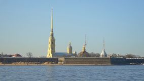 Peter and Paul Fortress. Peter and Paul Fortress in St. Petersburg, on the Hare Island stock video footage
