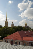 The Peter and Paul Fortress roof Stock Photography