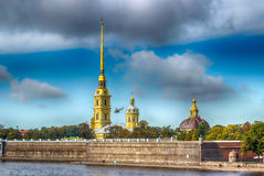 Peter and Paul fortress Russia St. Petersburg view  Neva river Royalty Free Stock Photos