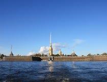 Peter and Paul fortress in Saint-Petersburg. Citadel over Neva river in Saint-Petersburg Stock Images