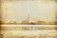 The peter and paul fortress, Saint-Petersburg Stock Photo