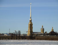 Peter and Paul fortress in Saint-Petersburg Royalty Free Stock Photos