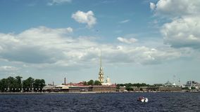 Peter and Paul fortress. In Saint-Petersburg stock video footage