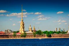 Peter and Paul fortress in Saint Petersburg Stock Image