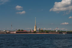 Peter and Paul Fortress in Saint-Petersburg, Rus Royalty Free Stock Images