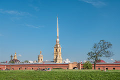 Peter and Paul Fortress in Saint-Petersburg, Rus Stock Photography
