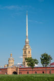Peter and Paul Fortress in Saint-Petersburg, Rus Royalty Free Stock Image