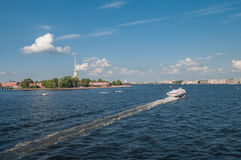 Peter and Paul Fortress in Saint-Petersburg Stock Photos