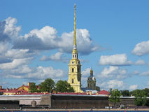 Peter and Paul fortress. Saint Petersburg, Russia. Peter and Paul fortress. Peter and Paul cathedral. Landmark. Tourist attraction. Monument of architecture Stock Photos