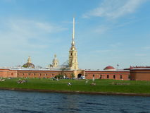 Peter and Paul fortress. Saint-Petersburg. Russia. Peter and Paul Cathedral in the Peter and Paul fortress in St. Petersburg on the banks of the river Neva in royalty free stock images