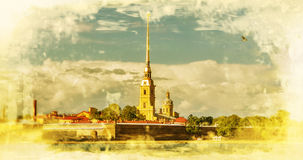 Peter and Paul Fortress, Saint Petersburg.Russia. Stock Photo