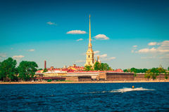 Peter and Paul fortress in Saint Petersburg, Russia Royalty Free Stock Photo