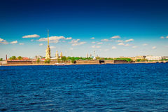 Peter and Paul fortress in Saint Petersburg Royalty Free Stock Photo