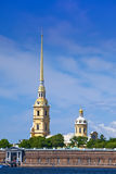 Peter and Paul Fortress spike.Russia. Petersburg. Stock Photos