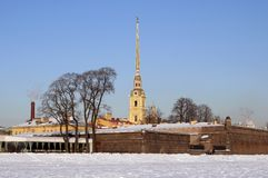 The Peter and Paul Fortress in St.-Petersburg Stock Photo