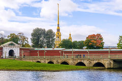 Peter and Paul Fortress in St. Petersburg Royalty Free Stock Photos