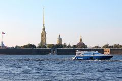 Peter-Pavel`s Fortress. St. Petersburg. royalty free stock image