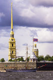 Peter and Paul Fortress in St. Petersburg, Russia Stock Photos