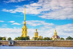 The Peter and Paul Fortress in St.Petersburg Stock Photography