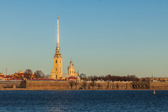 Peter and Paul Fortress in St. Petersburg, Russia Stock Photo