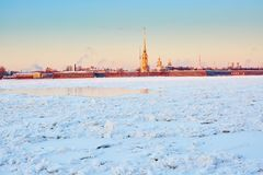 Peter and Paul Fortress in St. Petersburg, Russia Stock Photography