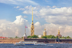 Peter and Paul Fortress in St. Petersburg, Russia Royalty Free Stock Photo