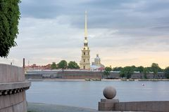 The Peter and Paul Fortress, St. Petersburg, Russia Stock Images